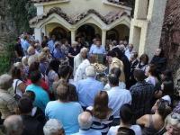 Λειτουργία στο Άγιο σεραφείμ με την ευκαιρία του ερχομού της σεπτής Κάρας του (1)